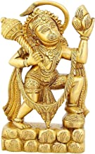 Religious Brass Statue Hanuman Monkey God Hindu Idol for Puja 8.5 inch,2.5 Kg