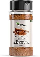 Namo Organics Sri Lankan Ceylon Cinnamon Powder - 100 GM Sprinkler Jar | Dalchini Powder Organic for Weight Loss