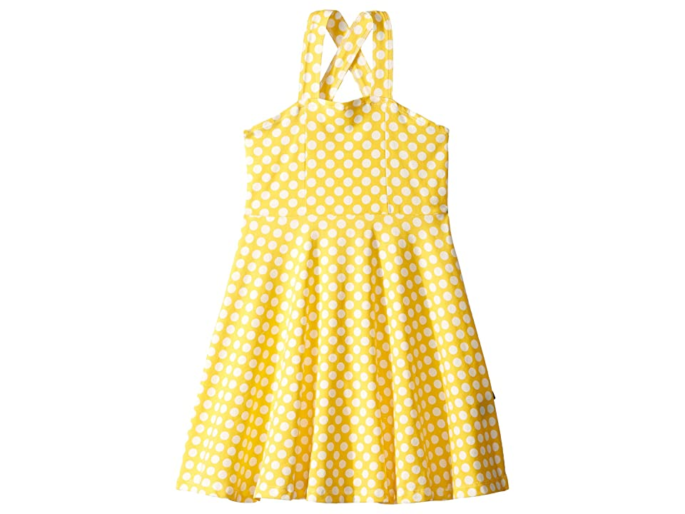 Toobydoo Skater Dress (Toddler/Little Kids/Big Kids) (Yellow Polka Dot) Girl