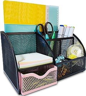 Mesh Desk Organizers Keep Office Supplies in 1 Place - Desktop Organizer, Office Organizer for Desk Organization, Desk Org...