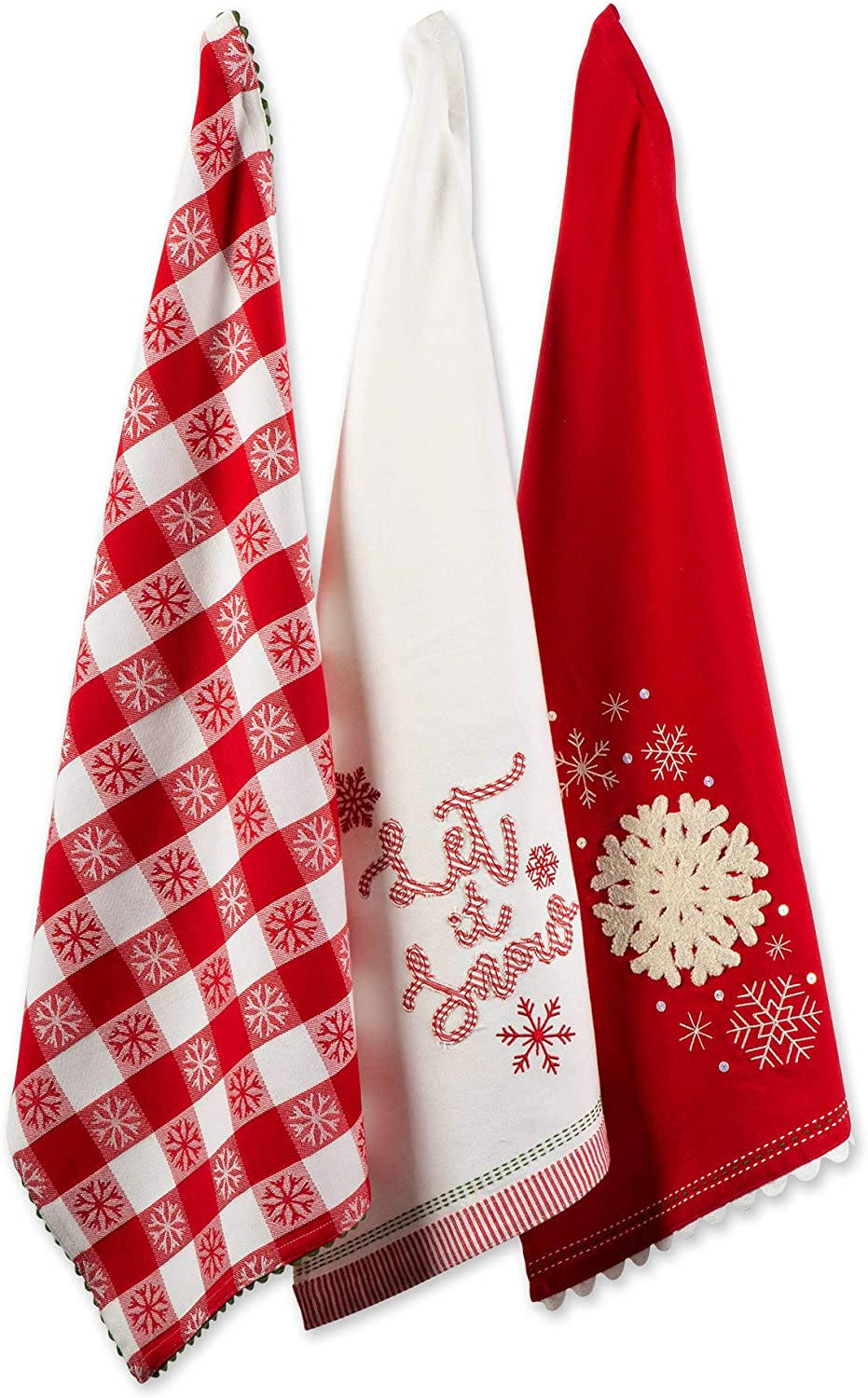 DII North Pole Holiday Chef Collection It 4 years warranty S Seasonal Wrap Introduction Towel Let Dish Set