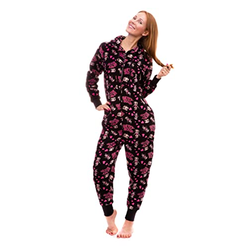 Betty Boop Womens Warm and Cozy Plush Onesie Pajama
