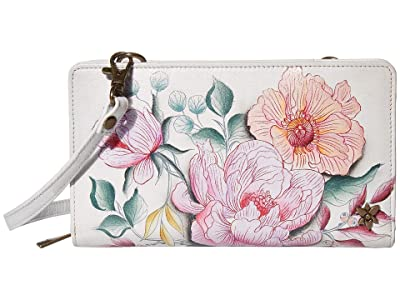 Anuschka Handbags 1149 Cell Phone Crossbody Wallet (Bel Fiori) Handbags