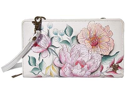 Anuschka Handbags Cell Phone Crossbody Wallet 1149 (Bel Fiori) Handbags