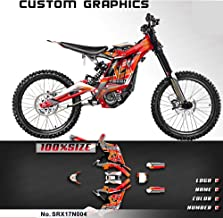 Kungfu Graphics Custom Decal Kit for Sur-Ron Light Bee X Electric Off-road Motorcycle Dirt Bike, Red Orange, SRX17N004