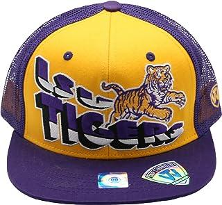 Top of the World LSU Tigers Flatbill Snapback Plastic Back Purple Yellow