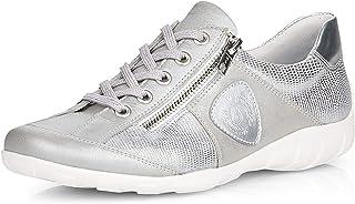 Remonte R3409-90 Chaussures en cuir avec fermeture éclair latérale Argenté - Gris - gris argenté, 40 EU