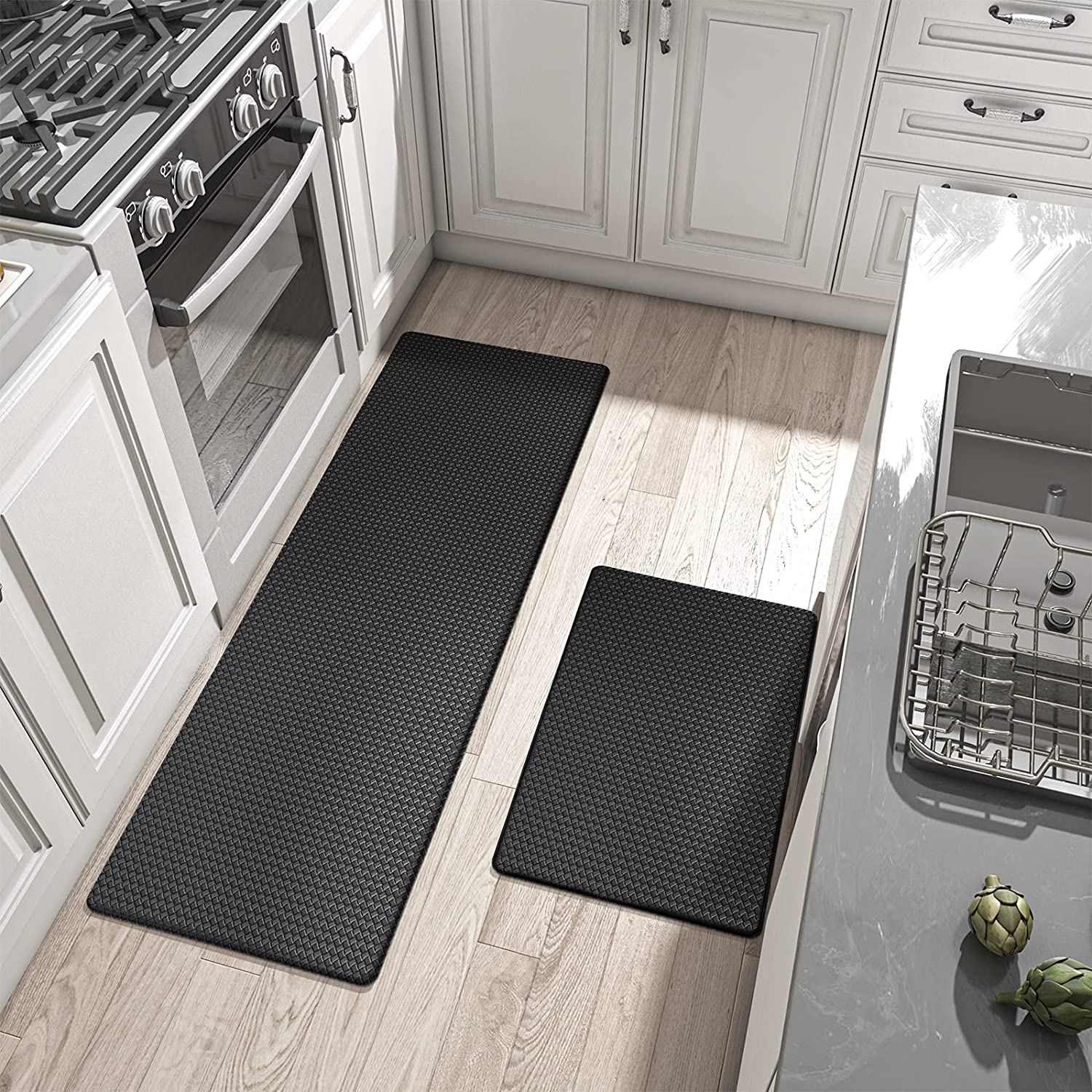 DEXI Kitchen Rugs and Mats Cushioned Anti Fatigue Comfort Runner Mat for  Floor Rug Standing Rugs Set of 9,9