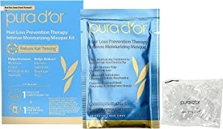 PURA D'OR Hair Thinning Therapy Masque (1 Pouch + 1 Conditioning Cap) Intense Moisturizing Hair Mask Treatment, Infused wi...