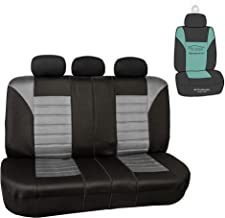 FH Group FH-FB068013 Premium 3D Air Mesh Split Bench Seat Cover, Gray/Color- Fit Most Car, Truck, SUV, or Van
