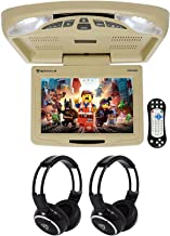 "Rockville RVD12HD-BG 12"" Beige Flip Down Car Monitor DVD/USB Player+Headphones"