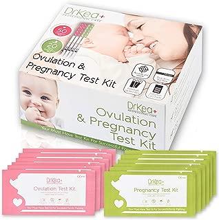 50 Ovulation Test Strips Predictor Kit - 20 Pregnancy Tests - First Response LH Ovulation Tracker Kits - OPK Fertility Tests - Ovulation Sticks For Women - Best Ovulation Testing Strip - 20 Urine Cups
