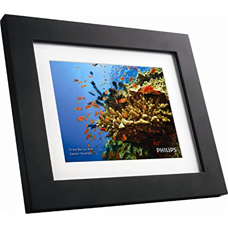 """GiiNii SPF3483/G7 8"""" Digital Picture Frames (Brown/Black with White Mat) Black/Brown"""