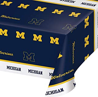 University of Michigan Plastic Tablecloths, 3 ct