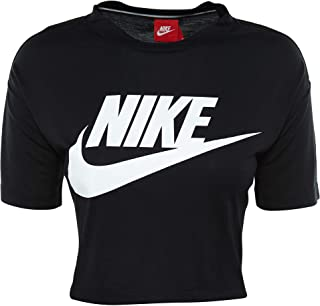 NIKE Womens Essential Short Sleeve Crop Top T-Shirt