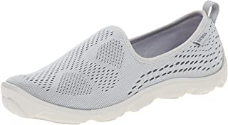 Crocs Women Duet Busy Day Xpress Mesh Skimmer Shoes, Light Grey/Graphite, US 5