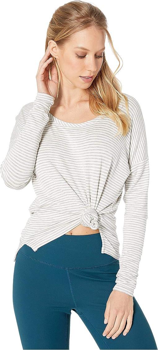 Heather Grey Stripe