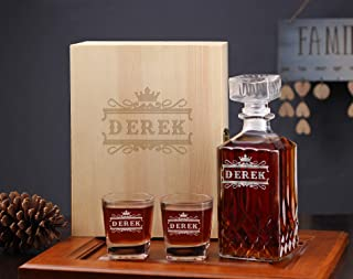 Engraved Groomsman Gift, Personalized Groomsmen Gift, Whiskey Decanter Gifts Set