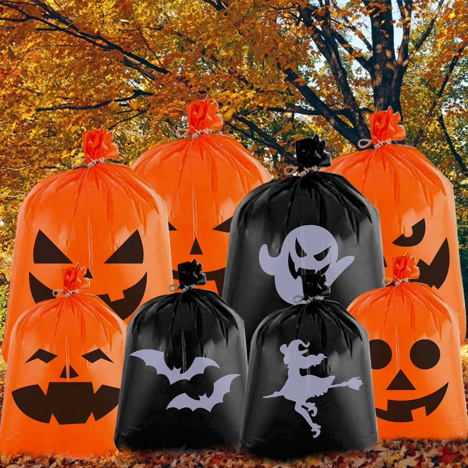 8 PCS Halloween Large Lawn OFFicial store Pattern 36'âwith Gifts Leaf Bags