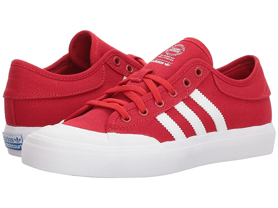 adidas Skateboarding Matchcourt (Little Kid/Big Kid) (Scarlet/Footwear White/Gum 4) Men