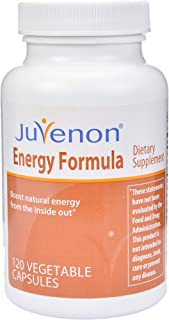 Juvenon Energy Formula Capsules (120 Capsules) - Anti-Aging Pills for Energy, Focus, Brain Function, Healthy Weight and Heart