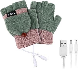 ヒーターグローブ USB接続 ヒーター手袋 加熱 指なし 防寒 あったか USB 手袋 ヒーター内蔵 パソコン作業用 冬用 暖かい 洗濯可能 男女兼用 (F)