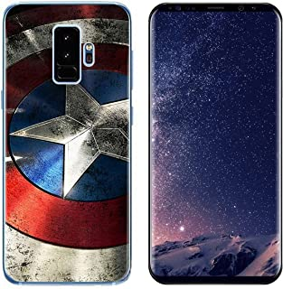 Ailiber Galaxy S9 Slim Case, Captain Shield American Superman Slim-Fit Anti-Scratches Anti-Finger Print Lightweight Soft TPU Protective Cover Protector for Samsung Galaxy S9 (5.8 inch) - Captain