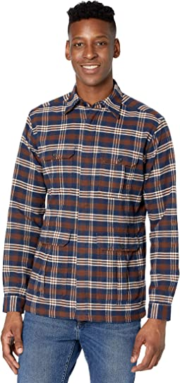 Casual Fit Checked Four-Pocket Overshirt