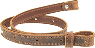 Nohma Leather Buffalo Hide Leather Rifle Gun Sling, Crazy Horse/Brown Stitch Amish Handmade 1