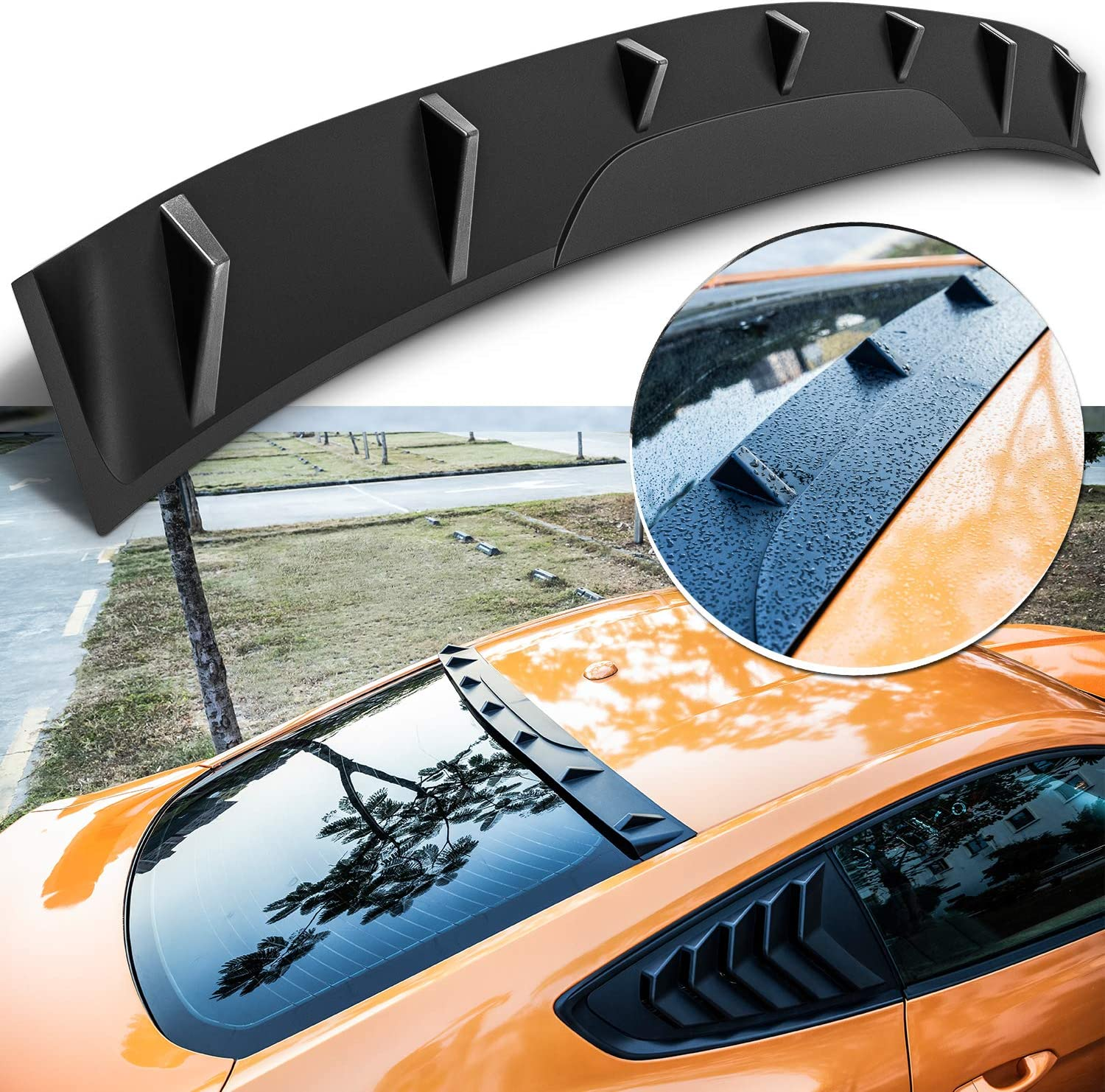 Yoursme Rear Upper Window Roof Super-cheap Spoiler F Fits Visor for ABS Shipping included Wing