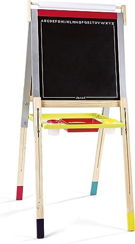 opciones a bajo precio Janod Pizarra de Madera con pies Regulables, Graffiti (J09601) (J09601) (J09601)  tiendas minoristas