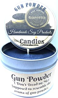 Gun Powder - 4 oz Handmade Soy Candle Tin
