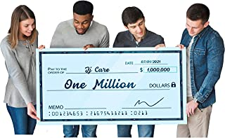 """[Upgraded] Dry Erase 30"""" x 60"""" Oversize Giant Check - Large Fake Checks - Big Blank Presentation Check - Reusable Giant Checks for Charity Donation, Lottery, Raffle, Novelty, Fundraiser (Pack of 1)"""