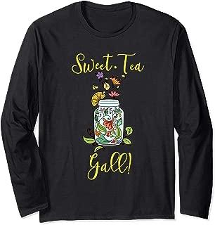 Cute Womens Southern Gift Shirt Girls Raised Sweet Tea Yall Long Sleeve T-Shirt