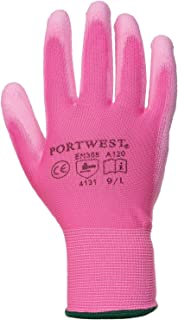 Portwest PU Palm Coated Gloves (A120) / Workwear (Pack of 2)