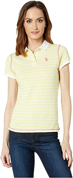 Narrow Striped Polo