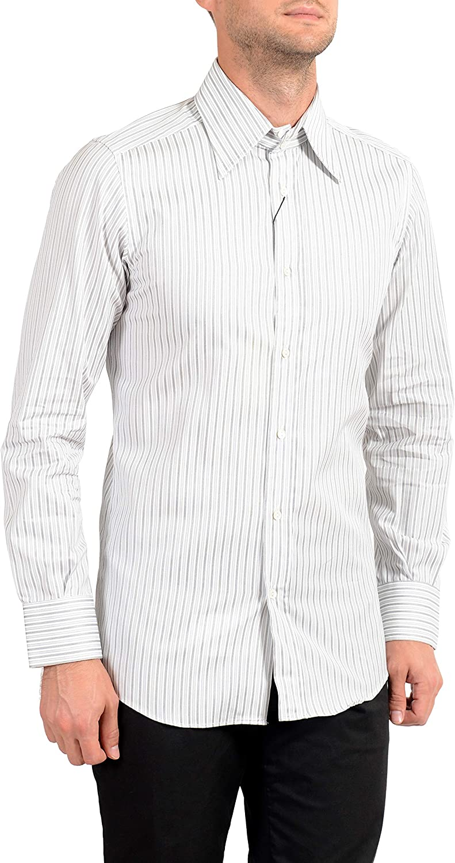 Dolce&Gabbana Men's Striped Long Sleeve Dress Shirt Sz US 15 IT 38