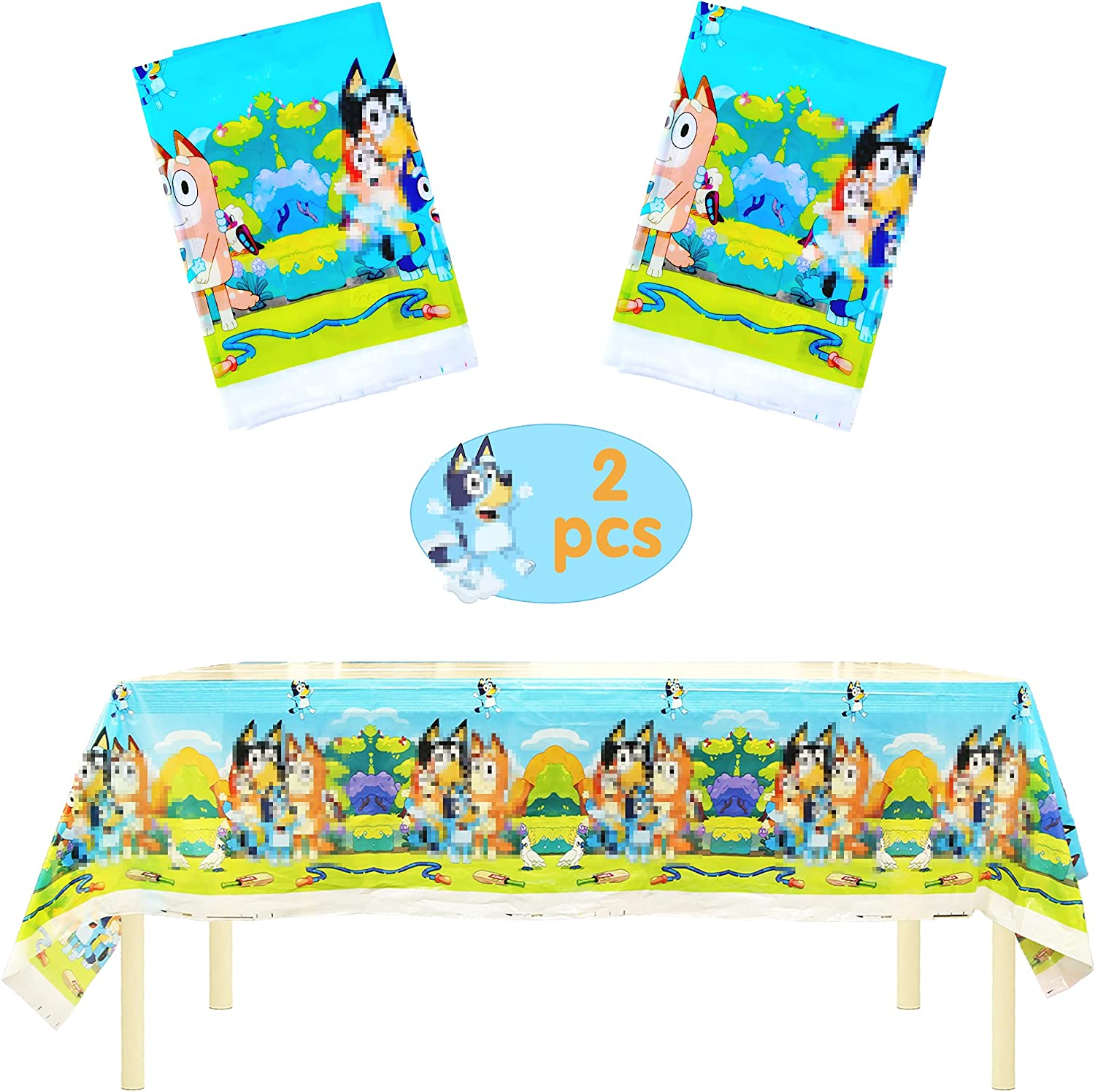 In Translated stock B-luey Party Supplies 2pcs Table for Birthd Cover
