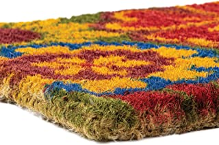 """NoTrax, Summer Flowers, Handmade Natural Coir Doormat, Entry Mat for Indoor or Outdoor Use, 18""""x30"""", C11 (C11S1830SF)"""