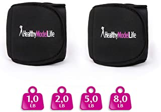HEALTHYMODELLIFE Ankle Weights Set by Healthy Model Life - 0.5lb, 1lb, 2lb, 5lb and 8lb Sets - As Worn by Victoria Secret Angels - Used in Top Gyms in New York