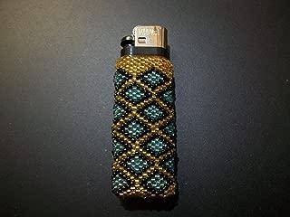 native american beaded lighter cases