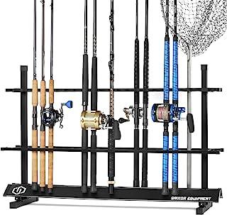 Savior Equipment Fishing Rod Rack Holder Organizer, Lightweight Aluminum Vertical Fish Pole Garage Storage Ground Display ...