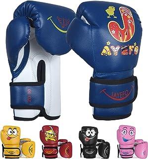 Jayefo Kids Boxing Gloves for Kids 4 6 Oz Training MMA Boys Girls Punching Bag Kickboxing Muay Thai Youth Junior Gloves Gi...