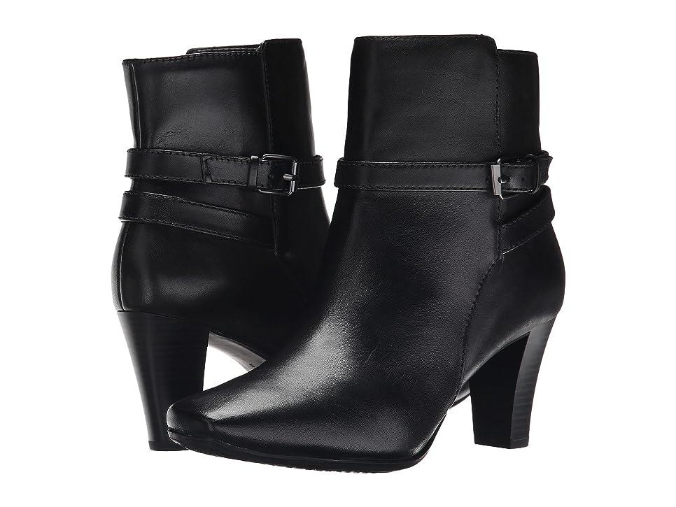 ミシン目正しい入札[バンドリーノ] Bandolino レディース Valerie アンクルブーツ Black/Black Leather US7.5(24cm) - M [並行輸入品]