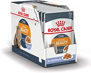 Royal Canin FCN Intense Beauty Jelly Wet Food Pouches Box of 12x85g Feline Breed Nutrition Cat Food