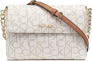 Calvin Klein Key Item Monogram Flap Chain Crossbody