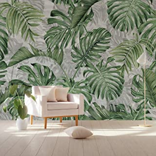 Murwall Leaf Wallpaper Palm Leaves Wall Mural Vintage Leaf Pattern Wall Print Tropical Home Decor Cafe Design