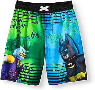 71a578a9fed96 LEGO DC Comics Batman and Joker Boys Boardshort Swim Trunks Black