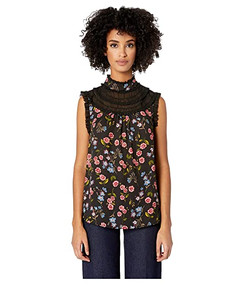 Kate Spade New York Wild Ones Meadow Lace Trim Top