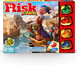 Risk Junior Game: Strategy Board Game; A Kid's Intro to the Classic Risk Game For Ages 5 and Up; Pirate Themed Game,E6936